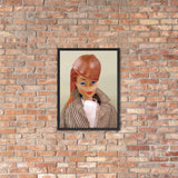 Riding in the Park Barbie Enhanced Matte Paper Framed Poster (in)