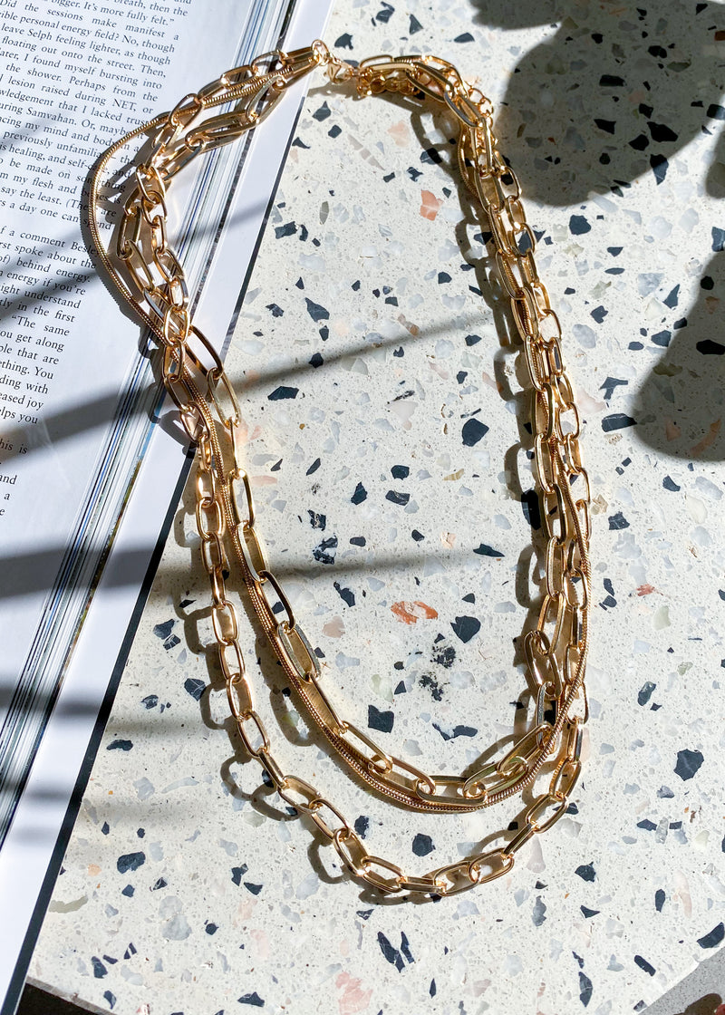 Links Necklace - Gold
