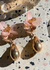 Pink Orchid Earring - Pink/Gold