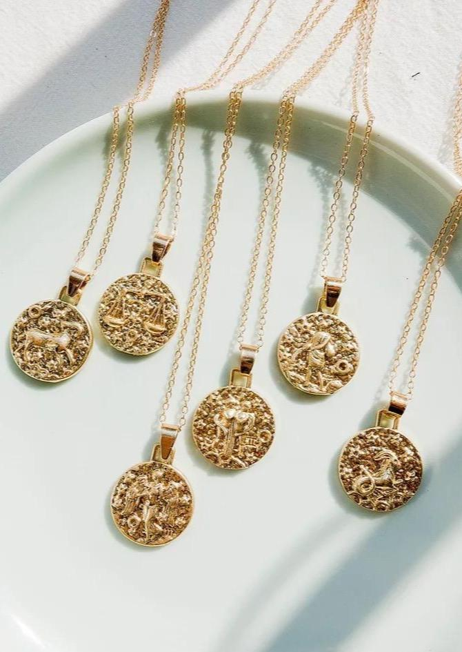 Star Sign Necklace - Gold
