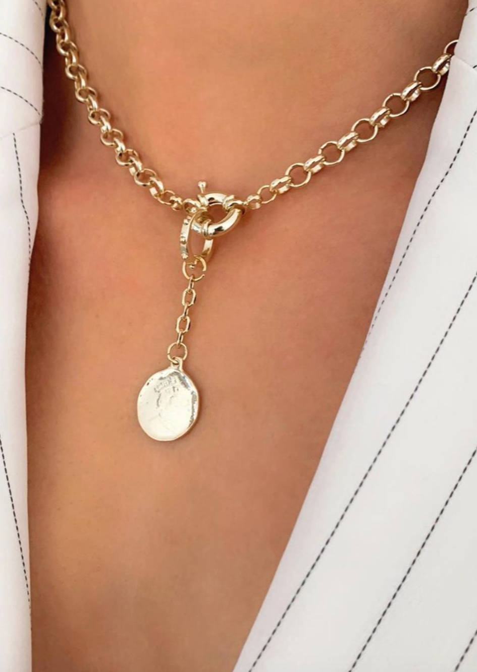 18K Gold Plated, Amour Necklace - JT LUXE