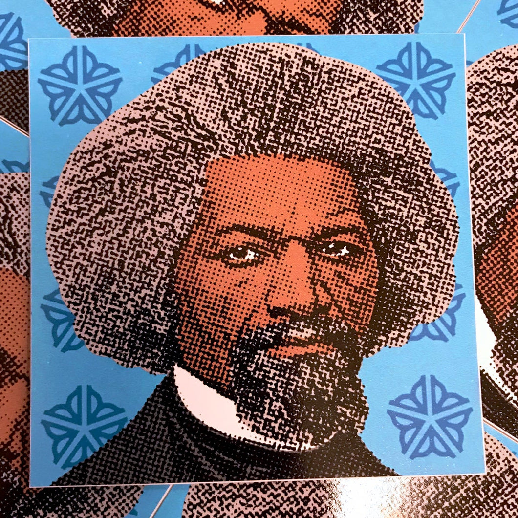 Frederick Douglass Dellarious Sticker