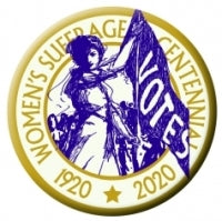 Button- Suffrage Centennial