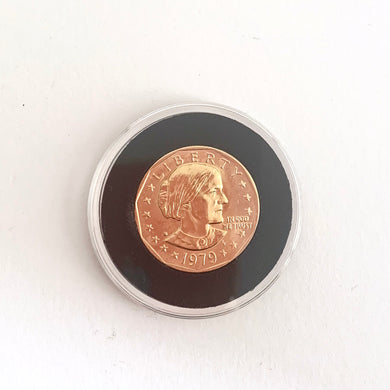 Gold Coin in Case