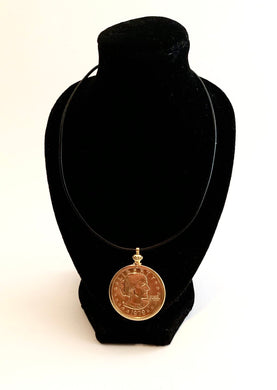 Coin Necklace on Cord