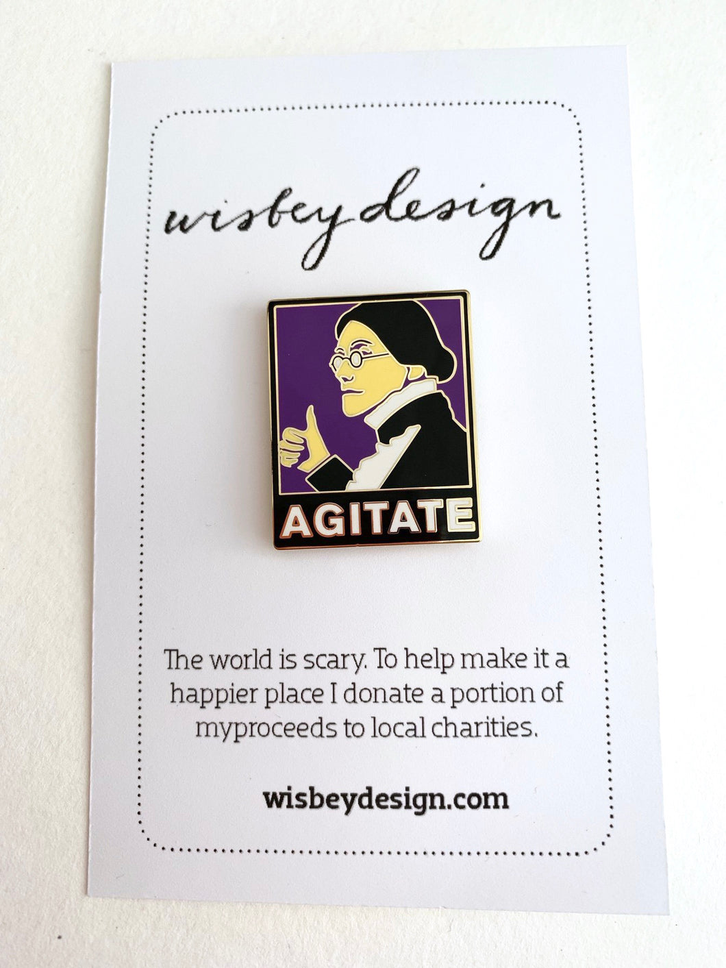 Agitate Pin