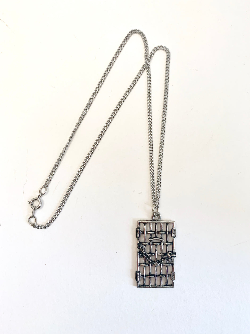 Jailhouse Door Necklace