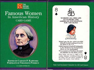 Famous Women-The History Channel Playing Cards