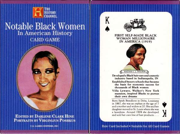 Notable Black Women- The History Channel Playing Cards