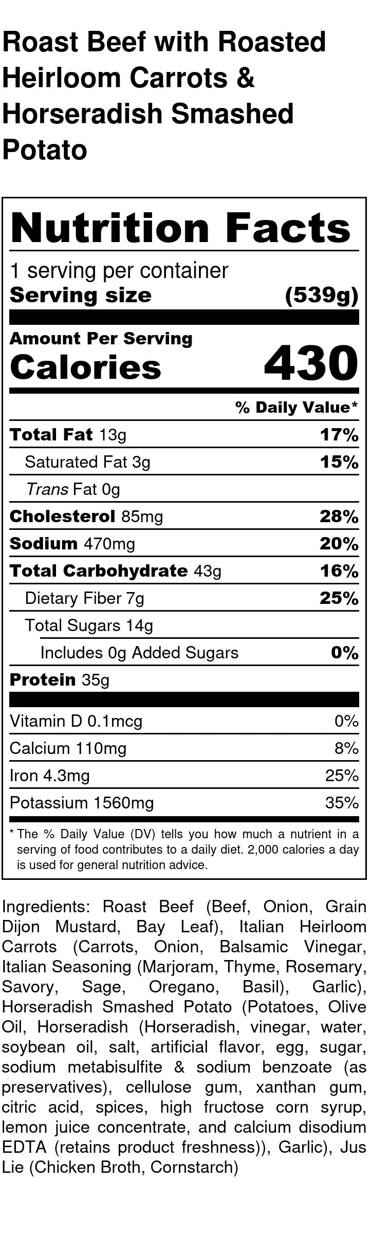 Roast Beef Nutrition Facts