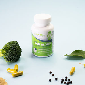 Glucosa Factor Bottle and Ayurvedic Herbs