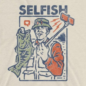 Funny t-shirt for fishermen Selfish close up