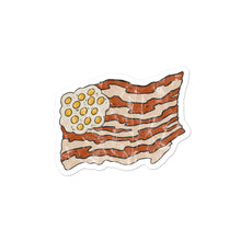 Load image into Gallery viewer, Bacon and eggs flag stickers