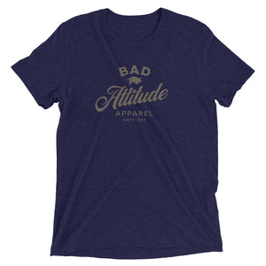Blue sarcastic Bad Attitude Apparel t-shirt from Shirty Store