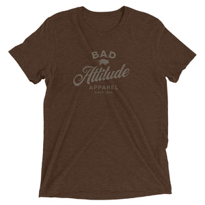 Brown sarcastic Bad Attitude Apparel t-shirt from Shirty Store