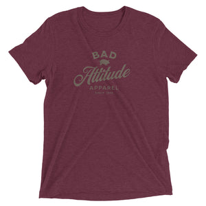 Maroon sarcastic Bad Attitude Apparel t-shirt from Shirty Store