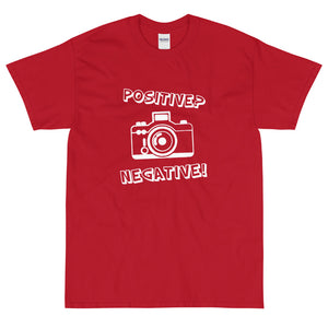 Red funny t-shirt Positive Negative from Shirty Store