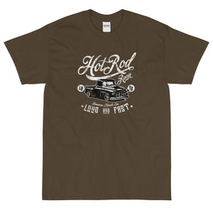 Olive retro streetwear Hot Rod Racert-shirt from Shirty Store