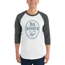 Load image into Gallery viewer, Big Grouch Lager 3/4 sleeve raglan funny shirt for men