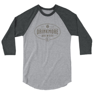 Drinkmore Brewery 3/4 sleeve raglan shirt for men or women