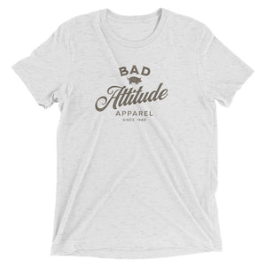 Funny t-shirt for men Bad Attitude Apparel white