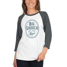Load image into Gallery viewer, Big Grouch Lager 3/4 sleeve raglan funny shirt for women