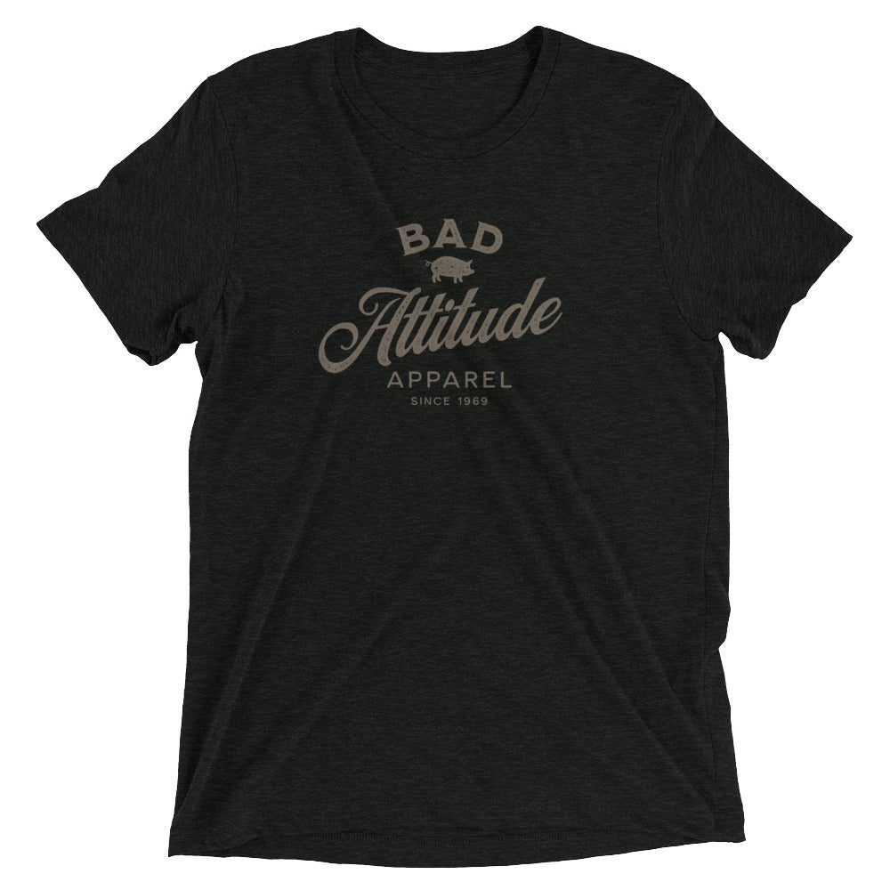 Black sarcastic Bad Attitude Apparel t-shirt from Shirty Store