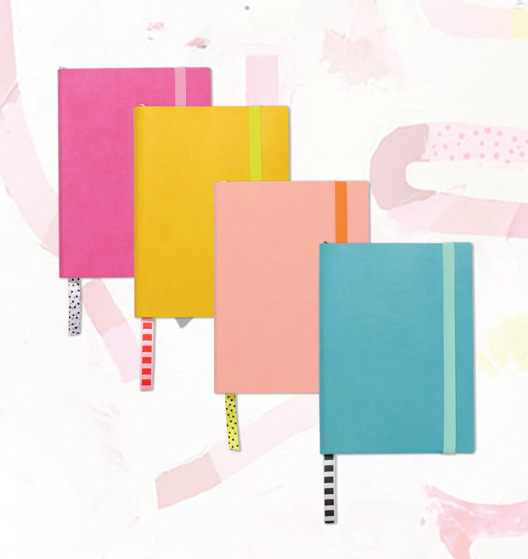 Ashley Mary - Pink Vegan Leather Notepad