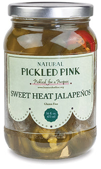 Natural Pickled Pink - Gourmet Sweet Jalapeno Pickles