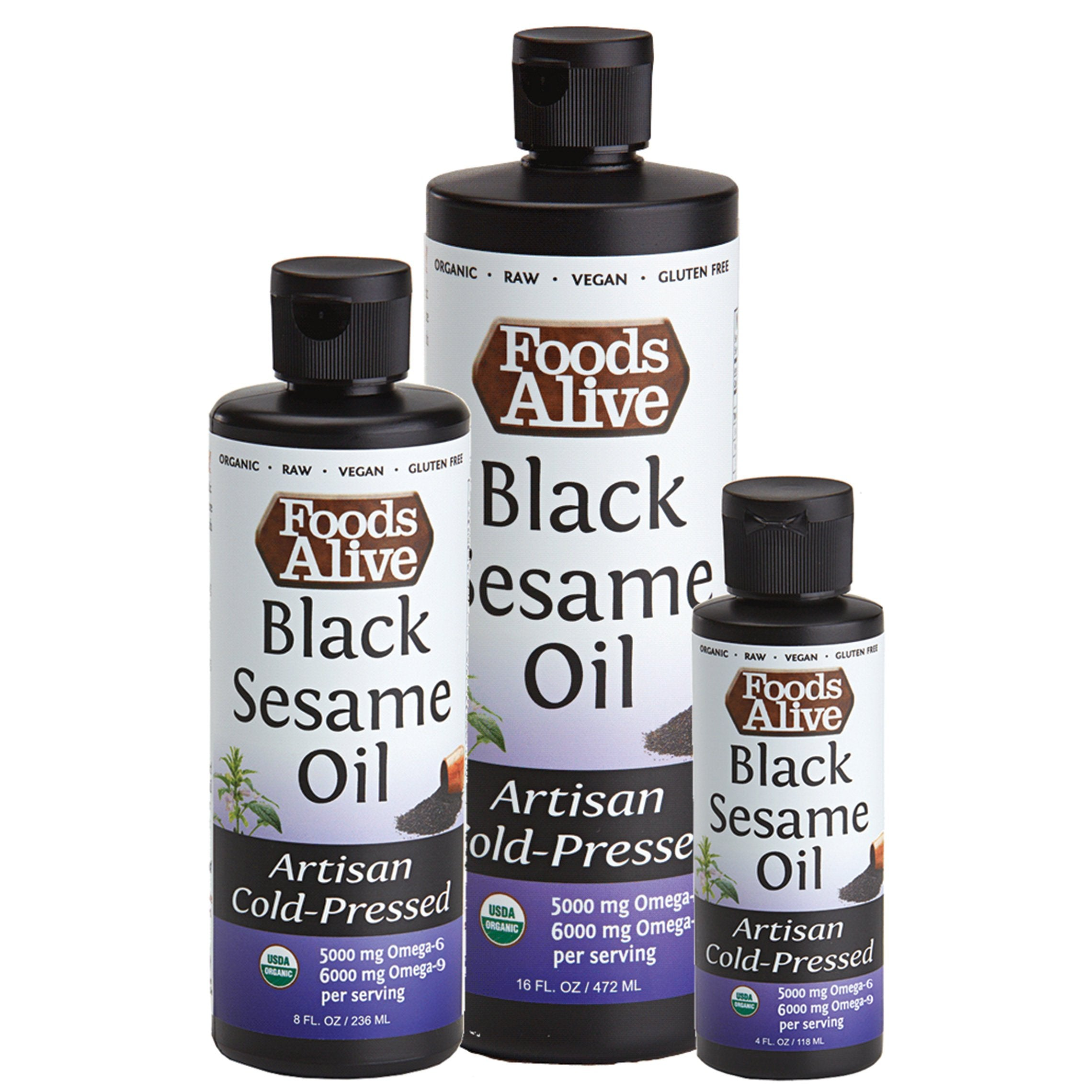 Foods Alive - Black Sesame Oil (8 oz)