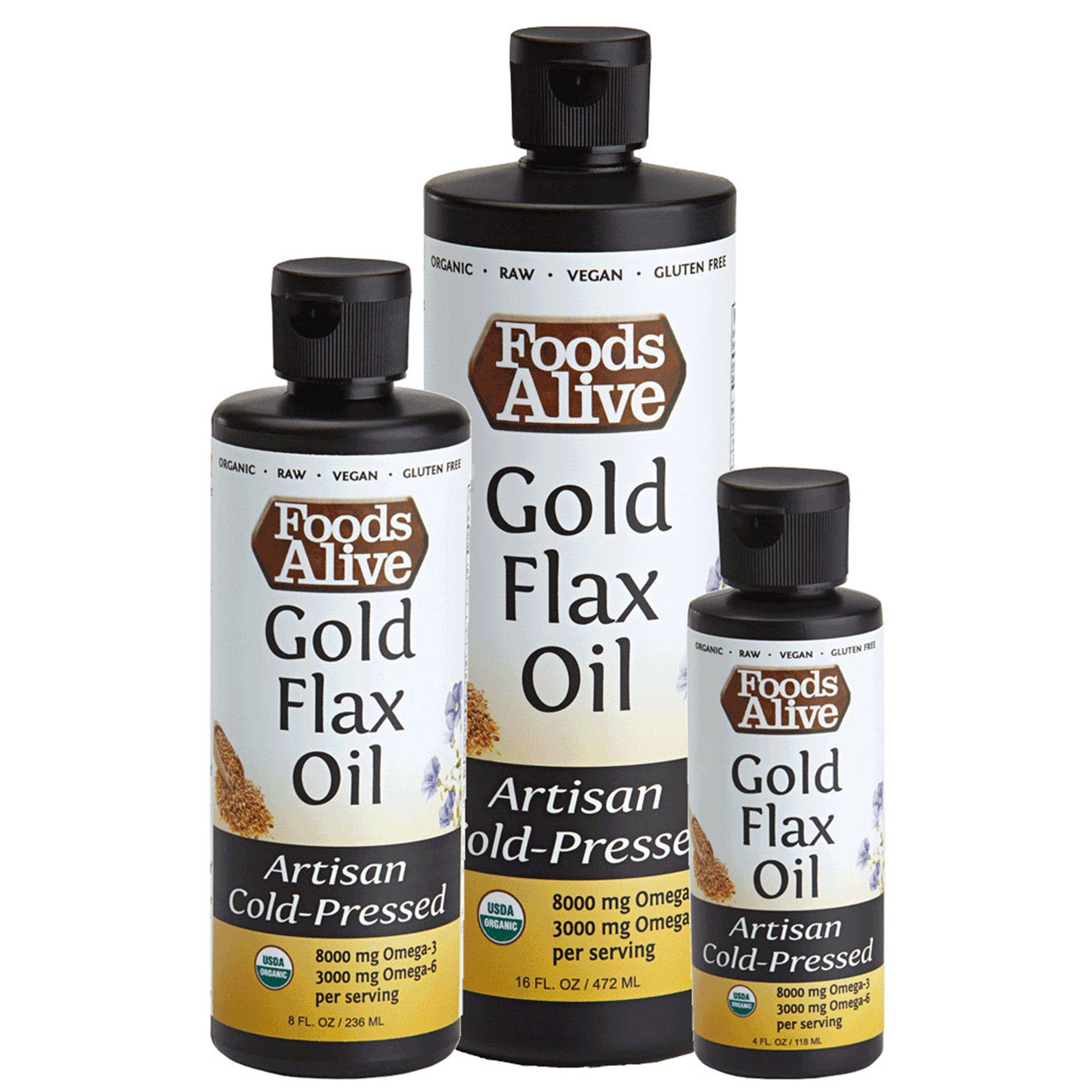 Foods Alive - Gold Flax Oil (8 oz)