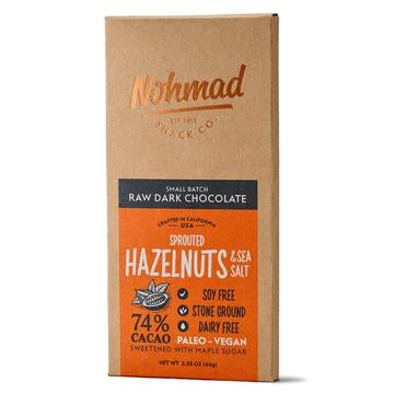 Nohmad - Raw Dark Chocolate (Hazelnuts & Sea Salt)