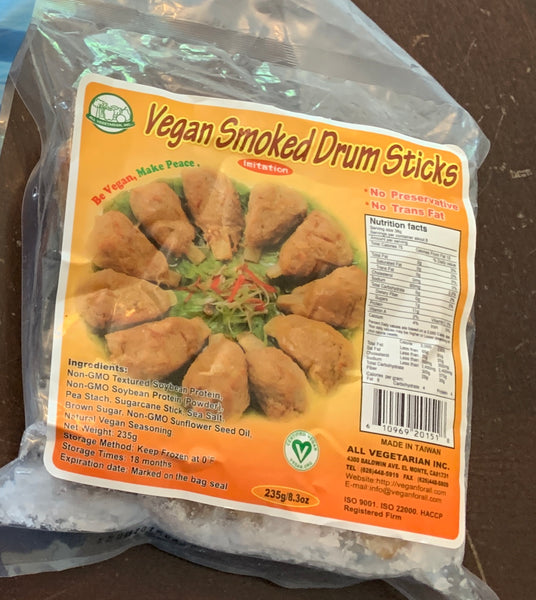 All Vegetarian, Inc - Vegan Smoked Drumsticks