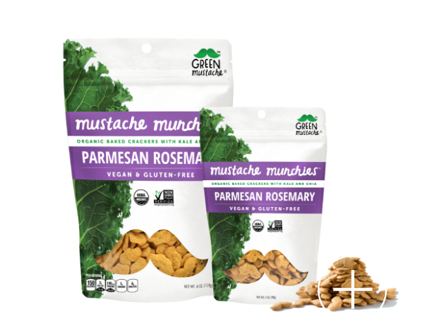 Green Mustache - Parmesan Rosemary Mustache Munchies (4 oz)
