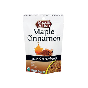 Foods Alive - Maple Cinnamon Flax Snackers