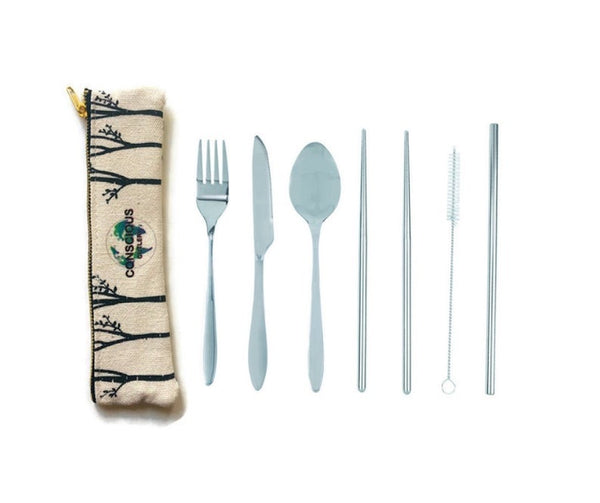 Conscious Cutlery - Hemp/Cotton Pouch