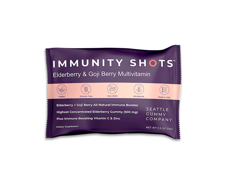 Seattle Gummy Co. - Immunity Shots! (Elderberry and Goji Berry Multivitamin)