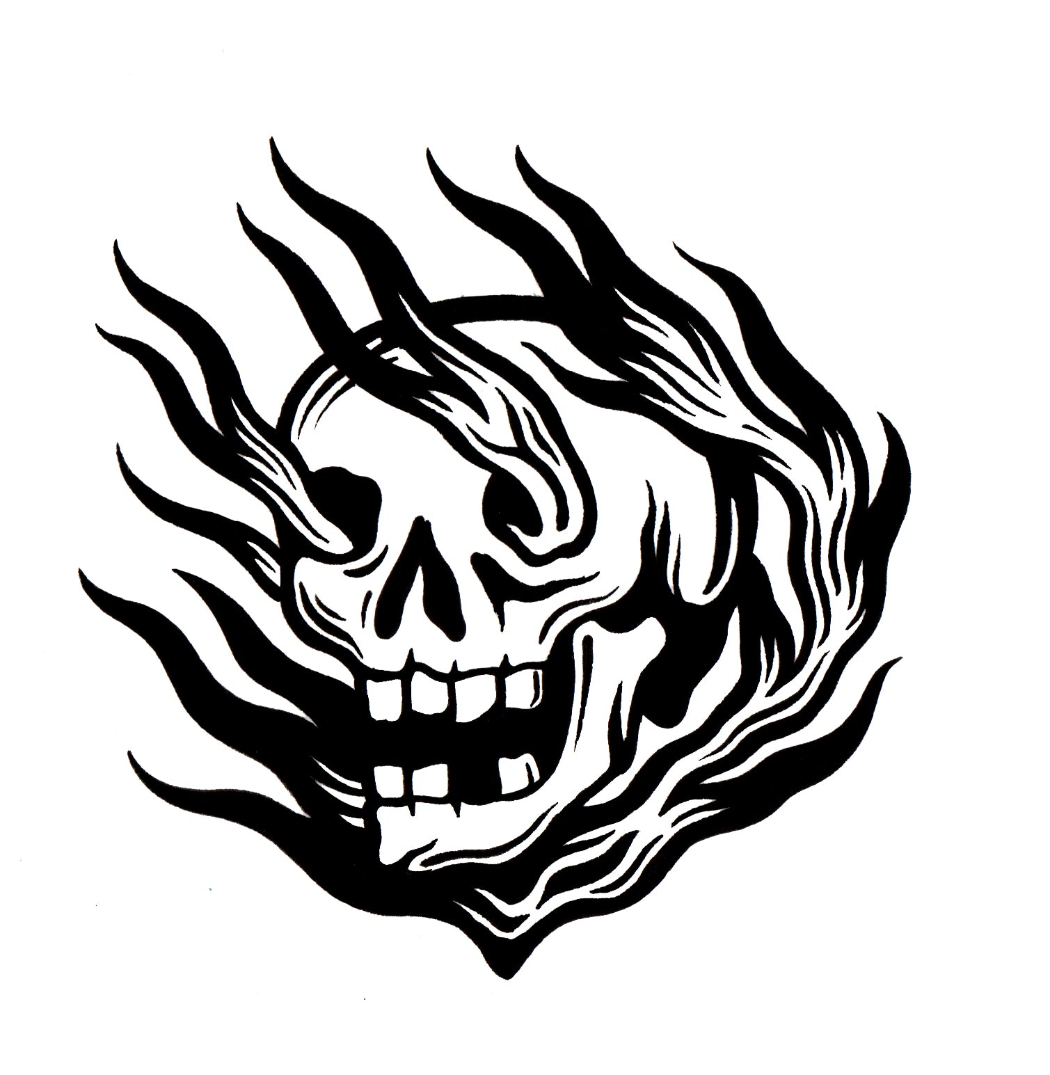 FIRE SKULL T-SHIRT (PRESALE)