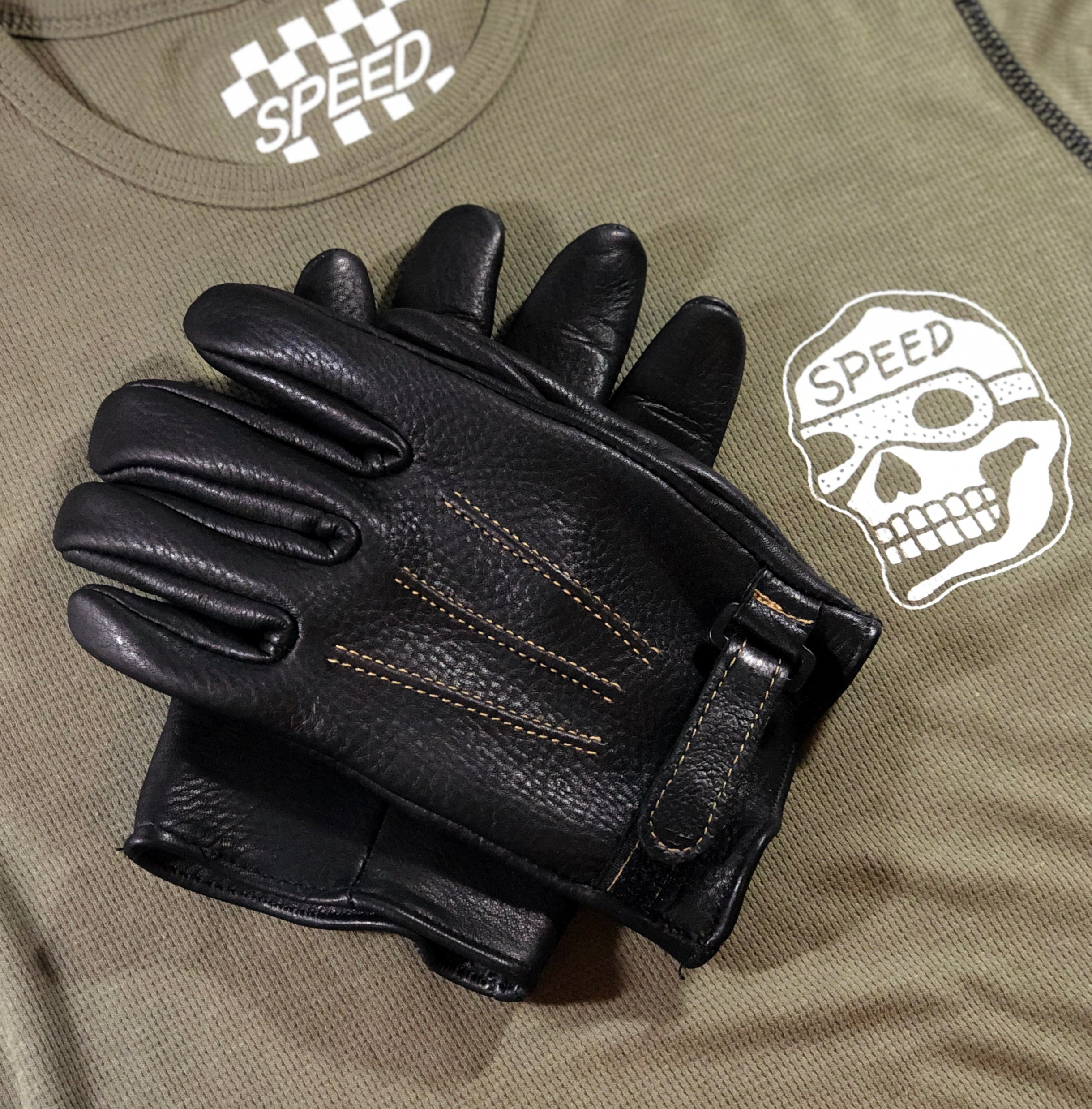 MIDNIGHT RIDER'S MOTORCYCLE GLOVES