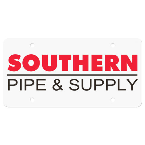 Southern Pipe License Plate Insert