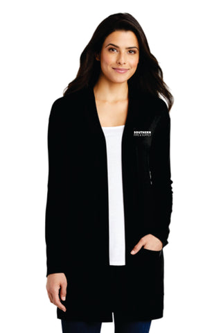 Ladies Long Pocket Cardigan