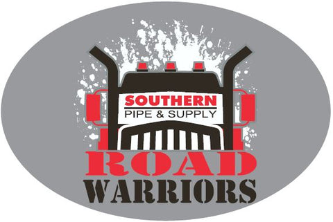 Road Warriors Oval Sticker