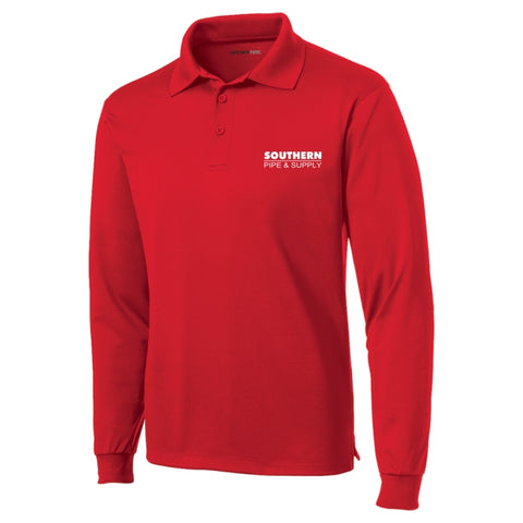 Long Sleeve Micropique Moisture Wicking Polo