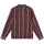 Classic Zip Up Plaid LS Shirt - Maroon