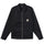 Zip Up Work Ls Shirt - Black