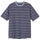 Peak Stripe S/SL Crew T-Shirt - Navy