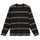 Asher Stripe LS Crew - Black