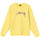 Stüssy Smooth Stock Embroidered Crew - Lemon