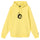 8 Ball Man Embroidered Hoodie - Lemon