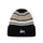 Striped Cuff Beanie - Black